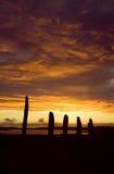 Ring van Brodgar, Orkneys, Schotland Stock Afbeeldingen
