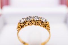 Ring 1 van de diamant Stock Afbeeldingen
