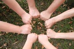 Ring van de handen stock afbeeldingen