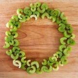 Ring van selderiestukken Stock Foto