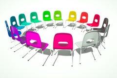 Ring von Stühlen Lizenzfreie Stockbilder