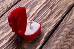 Ring voor het voorstel stock foto