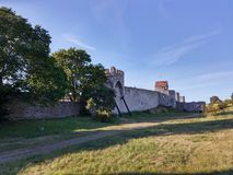 The ring wall in Visby Stock Photo