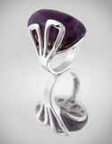 Ring wiht lilac gem. Silver Ring wiht lilac gem Royalty Free Stock Photo