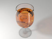 Ring in wine (3d) Royalty Free Stock Photography