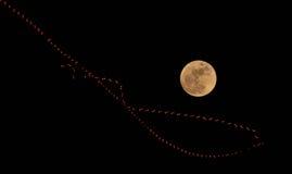Ringa månen Royaltyfri Foto