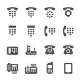 Ringa och faxa symbolsuppsättningen, vektorn eps10 royaltyfri illustrationer