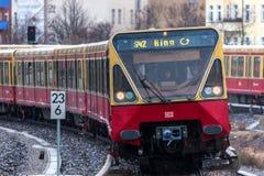 Ringbahn s 42电车柏林德国 免版税库存图片