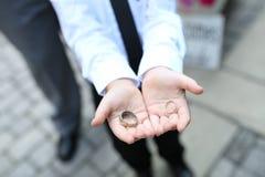 Ringbearer avec des anneaux Photographie stock libre de droits