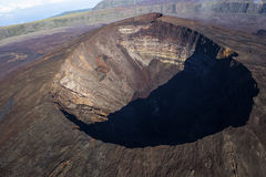 Ringbult de la Fournaise vulkan, Reunion Island, Frankrike arkivfoto