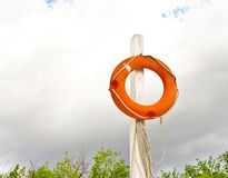 Ringbuoy strand Stock Afbeelding