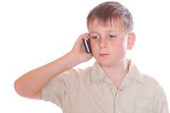 Ringd pojke Arkivfoton