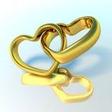 Ringe der Hochzeit 3D Lizenzfreies Stockbild