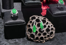 Ringe und Ohrringe Stockbild