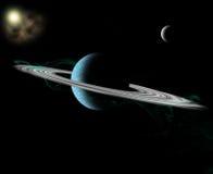 ringed planet Royaltyfri Fotografi