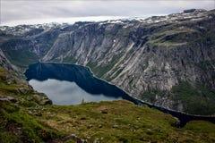 Ringedalsvatnet в Норвегии Стоковая Фотография