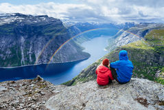 Ringedalsvatnet - lake in Norway near Trolltunga Stock Photos