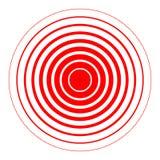 Ringen abstract rood teken stock illustratie