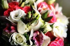 Ringen in bloemen Stock Foto