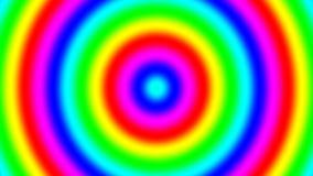 Ringen die van de regenboog de spectrale gradiënt snel, naadloze lijn zich binnen bewegen stock videobeelden