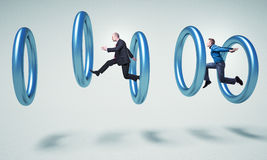Ringen en mensen Royalty-vrije Stock Afbeelding