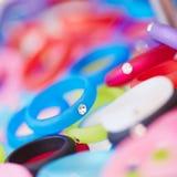 Ringen met diamanten bij juwelier Royalty-vrije Stock Foto