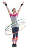 Ringen van een meisjes de rollende gymnastiek Stock Foto