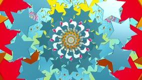 Ringen van sterren in diverse kleuren vector illustratie