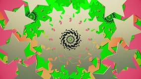 Ringen van sterren in zilveren, zwarte en groene kleuren royalty-vrije illustratie