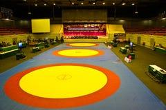 Ringend Meisterschaft 2011, 4-7 des asiatischen Kadetten - BANGKOK, THAILAND, 4.-7. August 2011 Lizenzfreies Stockfoto