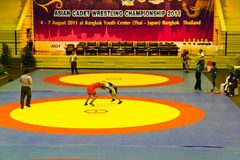 Ringend Meisterschaft 2011, 4-7 des asiatischen Kadetten - BANGKOK, THAILAND, 4.-7. August 2011 Lizenzfreie Stockfotos