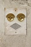 Ringer and speaker that look like a face. Stock Image