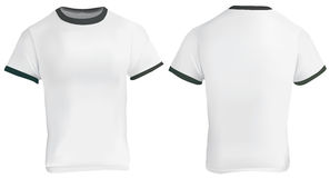 Ringer T-Shirt Template Stock Image