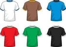 Ringer T-Shirts. A variety of different colored ringer T-shirts Stock Photo