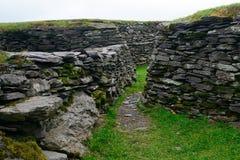 Ringfort, Leacanabuile,爱尔兰 免版税图库摄影