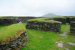 Ringfort Leacanabuile, Irland arkivbild
