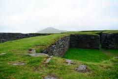 Ringfort Leacanabuile, Irland Arkivfoto
