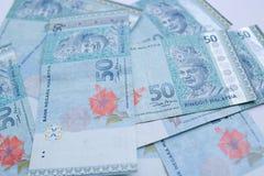 50-Ringgit-Banknote Ringgit ist die Landesw?hrung von Malaysia lizenzfreie stockfotos