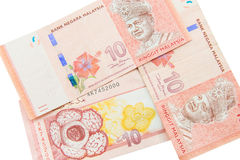 Ringgit currency, Malaysia. Financial banking Royalty Free Stock Images