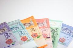 Ringgit de los billetes de banco de Malasia Fotografía de archivo