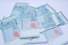 50 Ringgit het bankbiljet van Maleisi? dat op witte achtergrond wordt ge?soleerd royalty-vrije stock foto