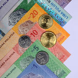 Ringgit Malaysia & Coins Royalty Free Stock Photo