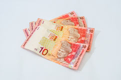 Ringgit Malaysia four piece Royalty Free Stock Photo