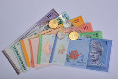 Ringgit Malaysia. The Malaysian ringgit is the currency of Malaysia. It is divided into 100 sen cents. The ringgit is issued by the Bank Negara Malaysia Royalty Free Stock Images