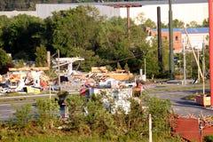 Ringgod Georgia Tornado-Schaden Stockbild