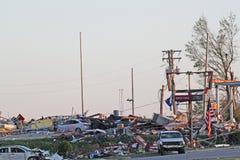 Ringgod Georgia Tornado-Schaden Stockfoto
