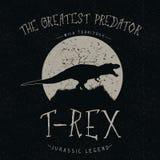 Ringhii di T-Rex alla luna Immagine Stock Libera da Diritti
