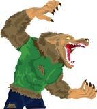 Ringhio del Werewolf Fotografia Stock
