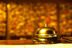 Ringing. The ringing on the reception desk Royalty Free Stock Photo