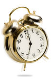 Ringing alarm clock. An alarm clock with the effect of an alarm going off Royalty Free Stock Image